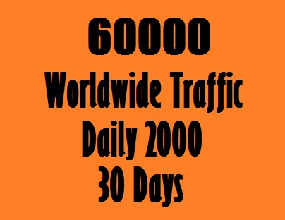 2000 Daily Traffic Worldwide for one Month