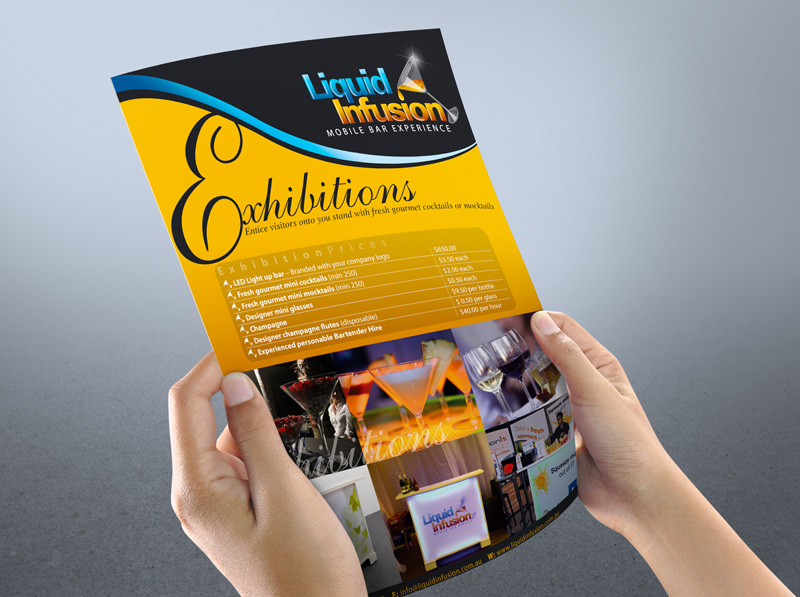 Design a single or double sided flyer and leaflet