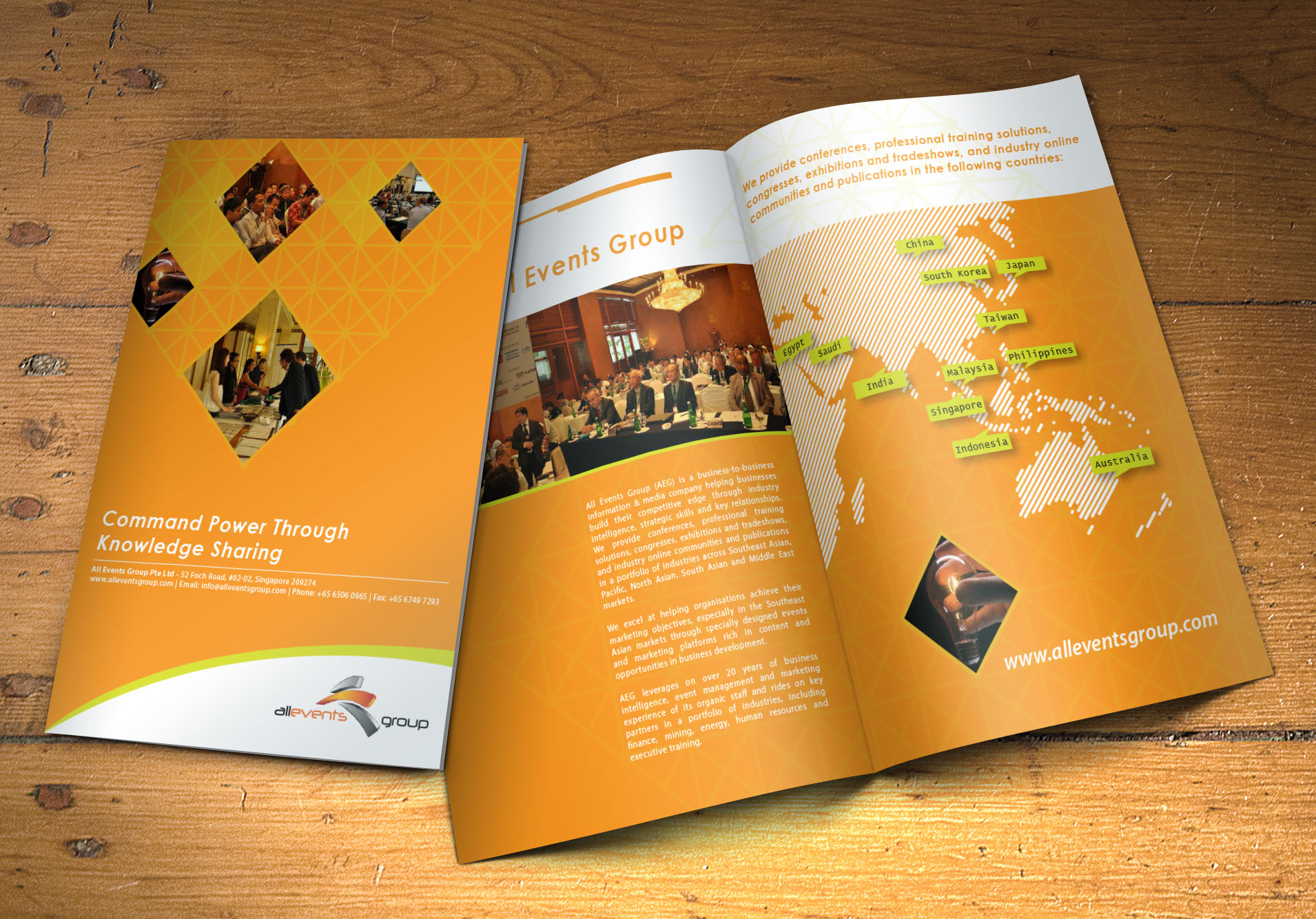 Design professional and eye catching print ready bio-fold brochure