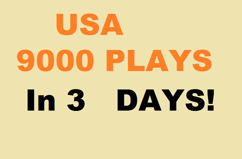 9000 Play USA promotion with 300 follower + 50 Commen...
