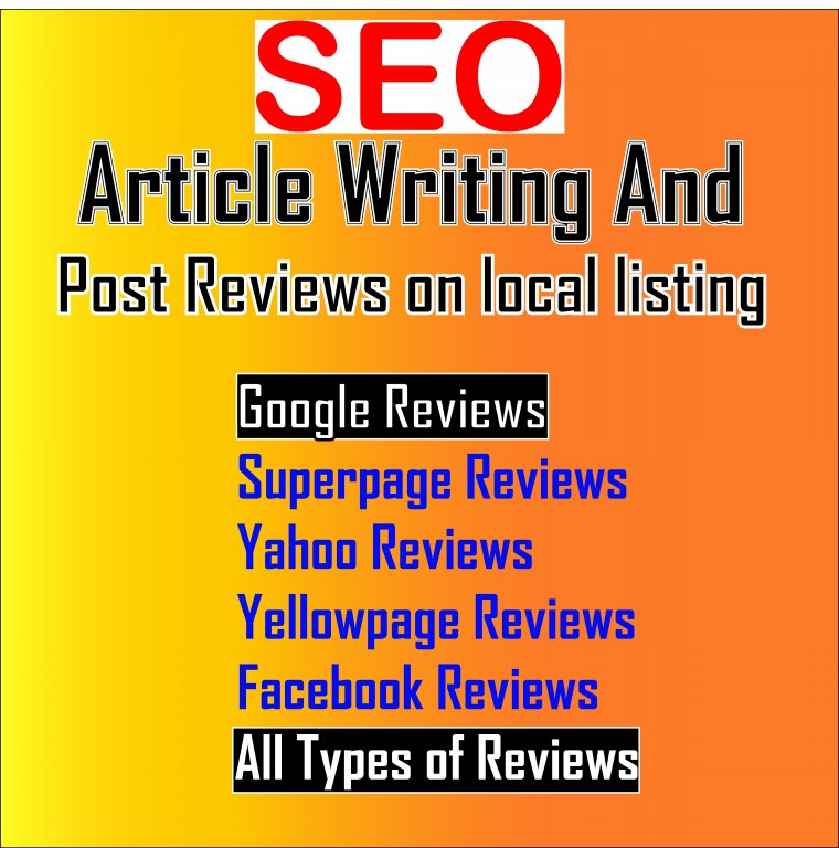 Article Writing and post Reviews on local listing to help SEO