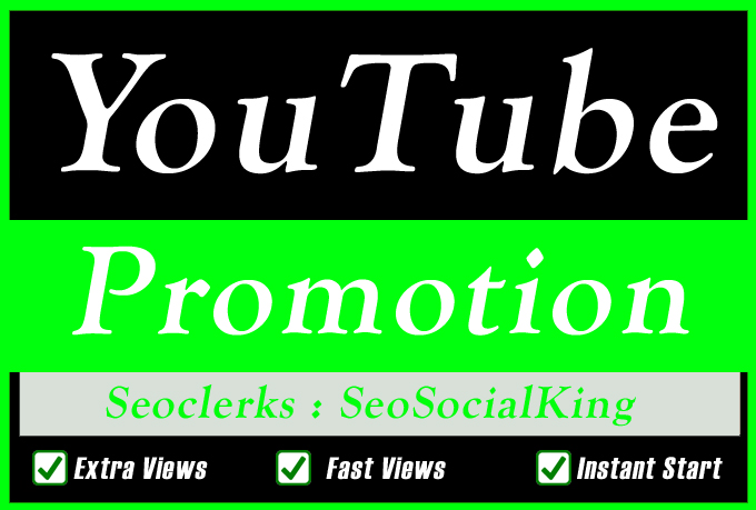 YouTube Video SEO Promotion Marketing for YouTube Search Ranking