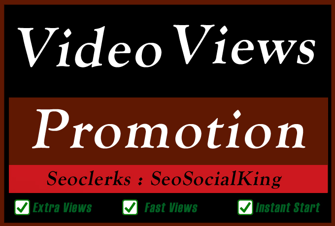 Organic Video Views Likes Coments Promotion and Seo M...