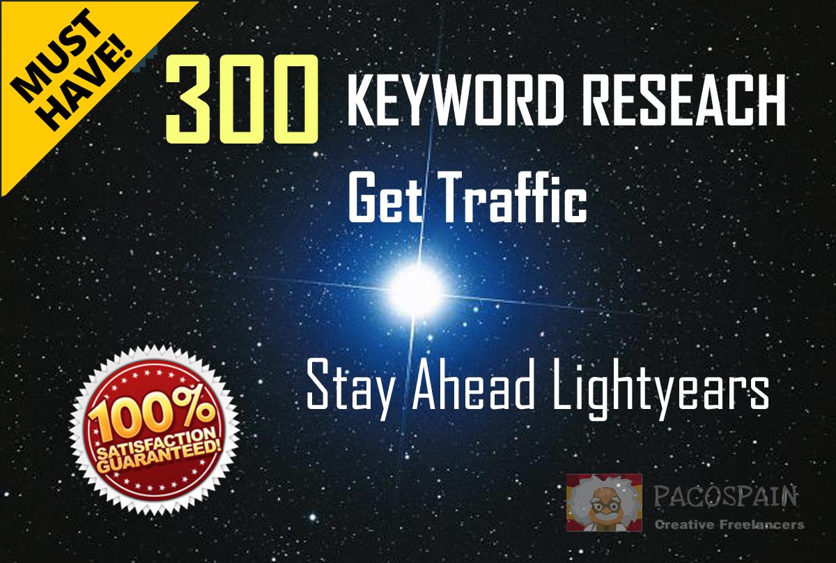 Keywords Research, 50-300 key phrases