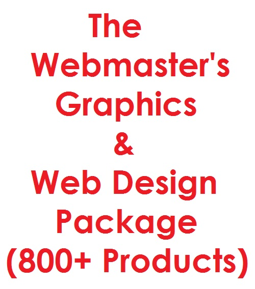 Webmaster's Graphics & Web Design Pro Package - Internet Business - 6GB