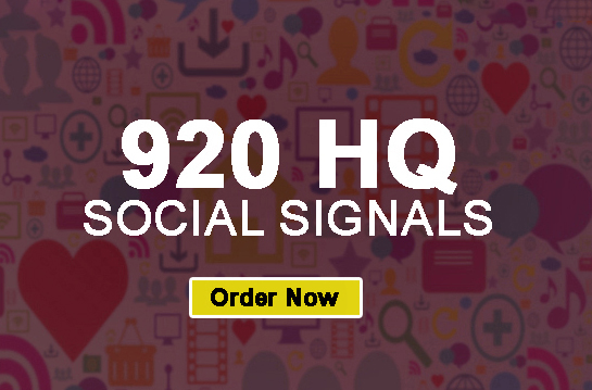 Real 920 social signals to boost your ranking on Google