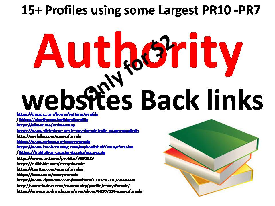 Create 15+ profiles using some of the Largest  PR10 ndash PR7 Authority websites Back links