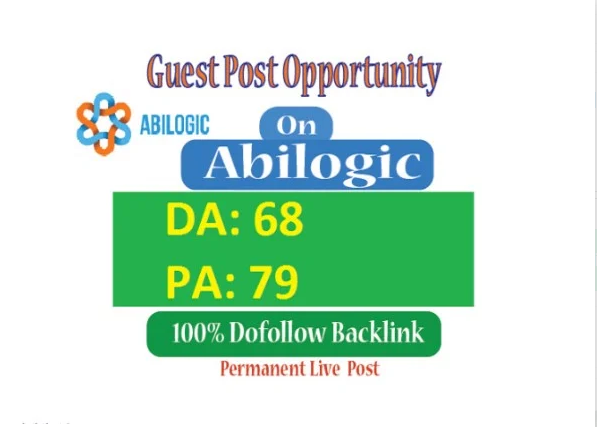 Permanent Guest post on Abilogic DA68 With Dofollow L...