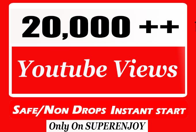 20,000 + 20k YouTube Views with choice Extra service 1k 2k 3k 4k 5k 6k 7k 8k 9k 10K 15K 25K 40K 50K 100K Or 1000 2000 3000 4000 5000 6000 7000 8000 9000 10000 15000 20000 30000 40000 200K 500K Views