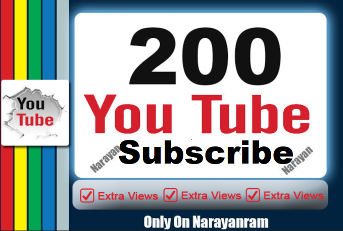 I will add 200+ Youtube  Subs - criber manually instant Start