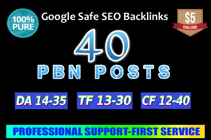Build 40 Real Domain Dofollow Pbn Backlinks with high...