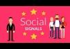 2100+ most social signals From best top 4 social media sites