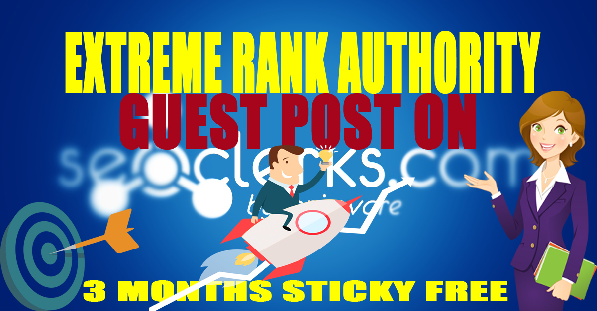 Extreme Rank Authority 10 PBN Post,  Average DA35,  PA30,  TF25