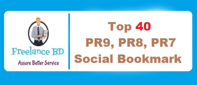 Top 40 Social Bookmarking sites PR9, PR8, PR7 - Wit...