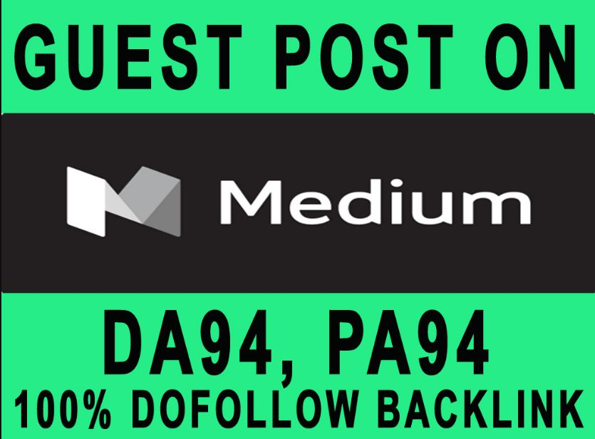 Guest post on Medium DA 93 with backlinks