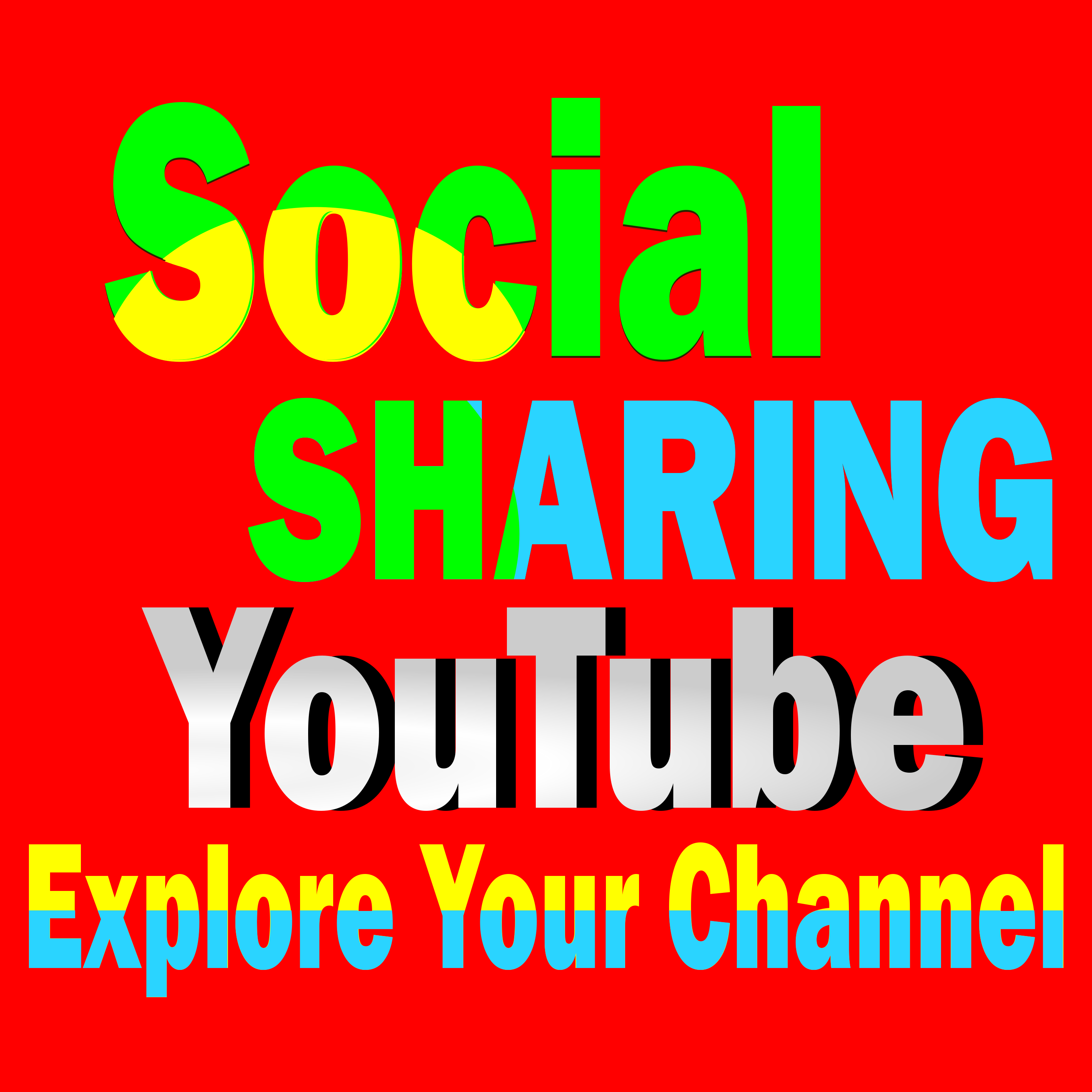 Deliver 100+ Social Media Shares to your YouTube video
