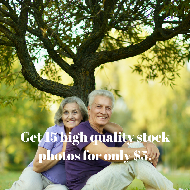 Give you 15 high quality stock photos of your choice.