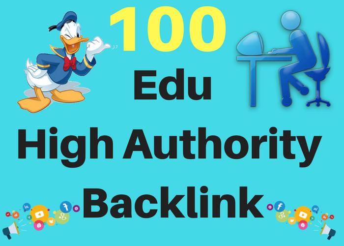 Get you 100. EDU High Authority Backlink