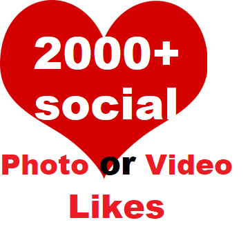 2000+ Social Likes on Pics, Videos, High-quality Promotion Super Fast