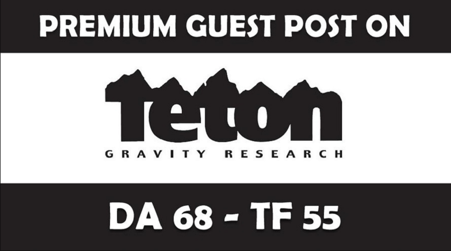 Publish Guest Post on TetonGravity/com DA68, PA74 with dofollow Link