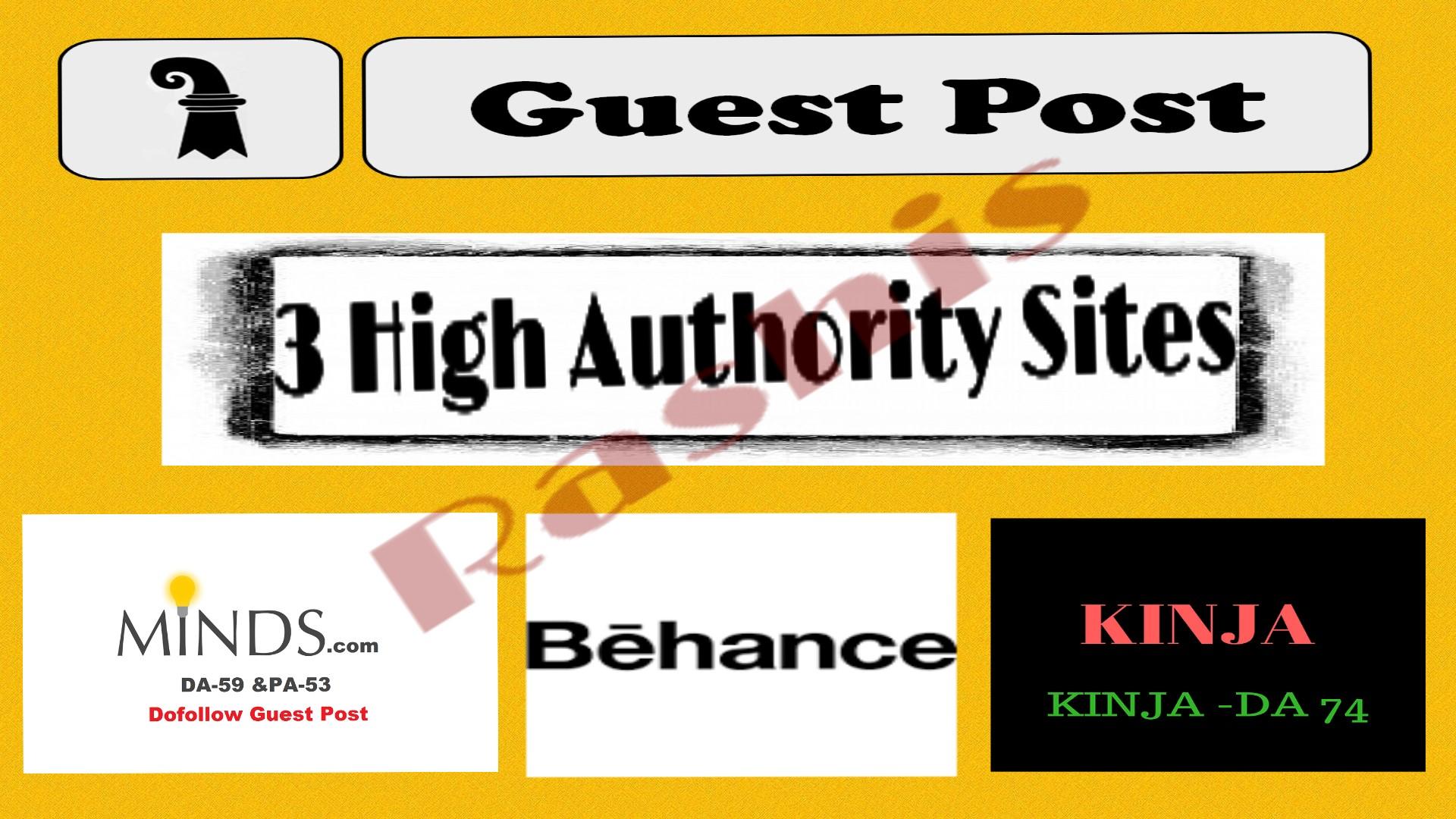 Bumper offer write & publish Guest Post On Minds+Behance+Kinja