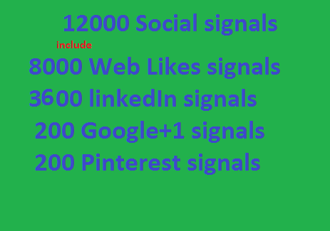 Big Offer 12000 mixed seo social signals Weblikes Googleplus LinkedIn Pinterest