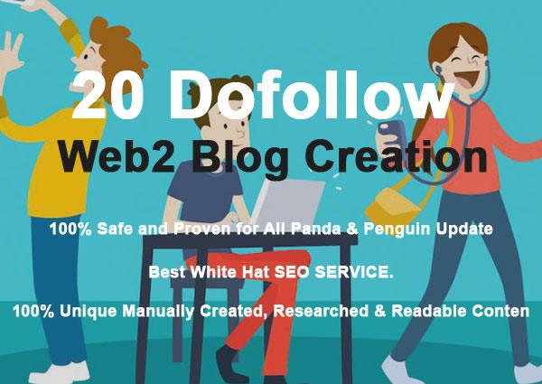 High Authority web 2.0 Unique Logins Unique Content