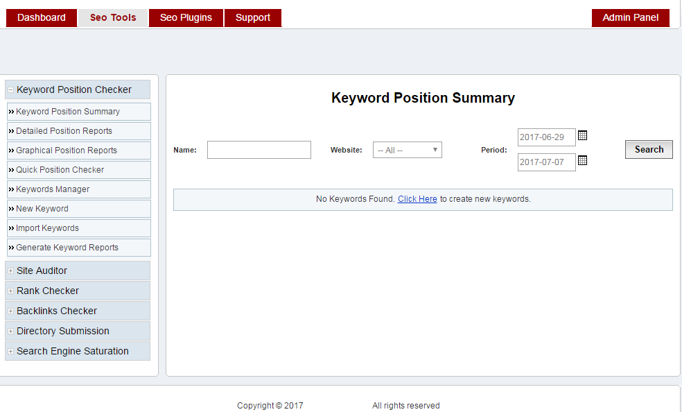 Design a complete seo control panel to managing SEO of your websites in just one panel