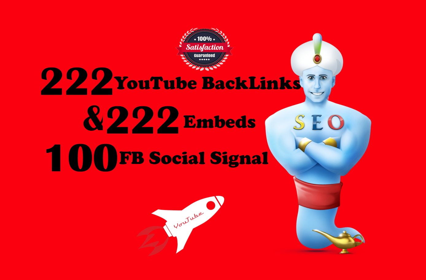 will 222 DoFollow BackLink with 222 Video Embeds + 100 Social Share - Organic Promotion