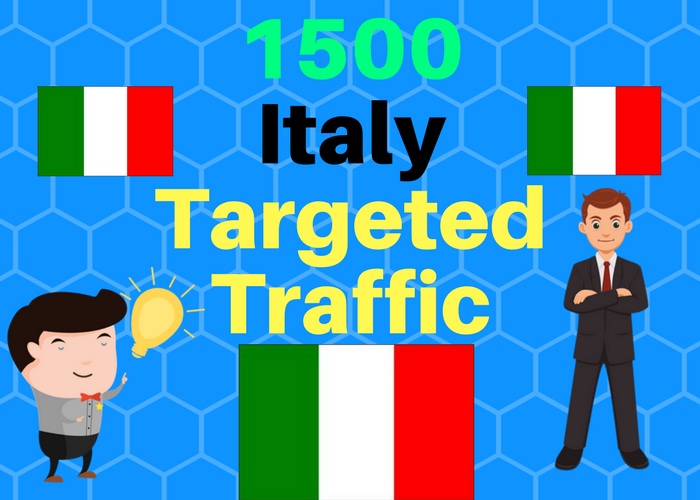 1500 Italy TARGETED Human traffic to your web or blog...