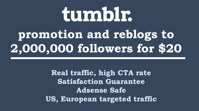 promote or reblog anything to 2,050,000 tumblr users