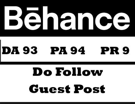 Publish Guest Post On Behance DA 93