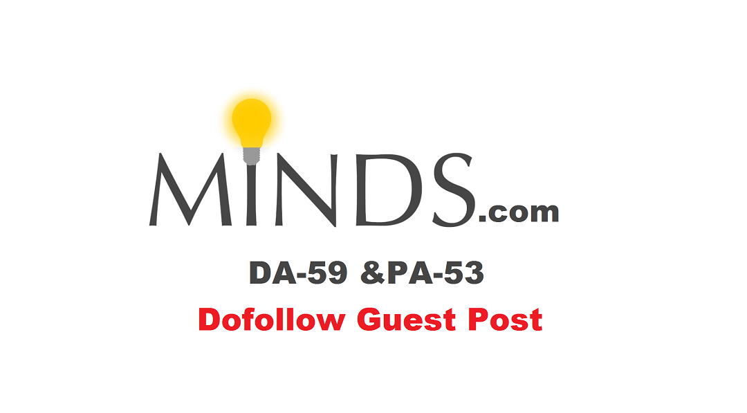 Publish Guest Post on Minds with Dofollow Link [65% Discount For Limited]