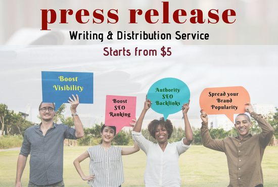 Write An SEO Press Release,  Distribute To 25 Sites With Contextual Backlinks