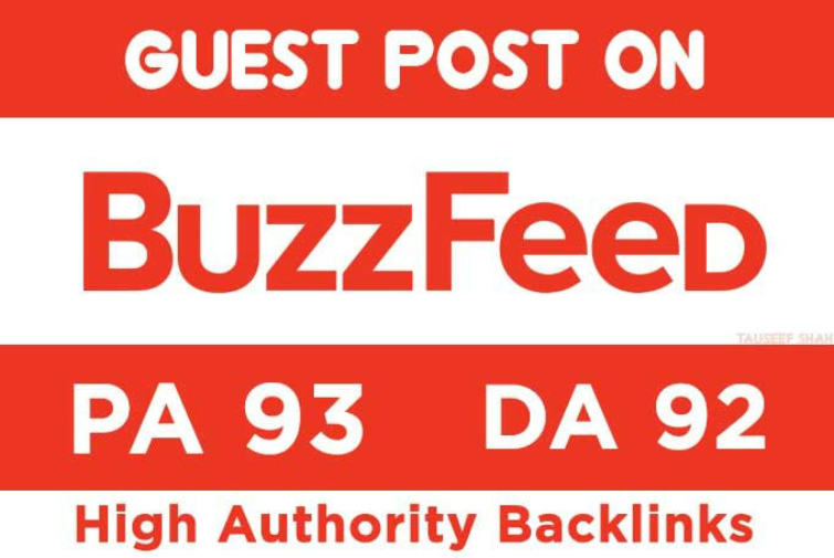 Write and publish Guest Post on BuzzFeed DA 92