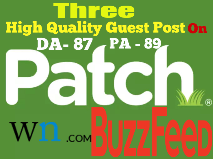 Give You 3 High Authority Guest Post Backlinks DA 80+