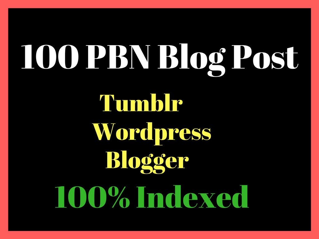 Do 100 Web2 PBN Permanent Posts Manually