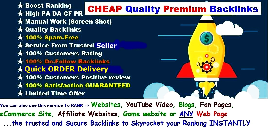 127+ Backlinks For INSTANT Keywords Rank BULLET SEO- Create 127+ Quality Manual Pr 7 - 9 High DA TF PA CF PR Links To RANK Your Site Quickly In Google - Powerful PUSH-Up Backlink LIMITED Time Offer