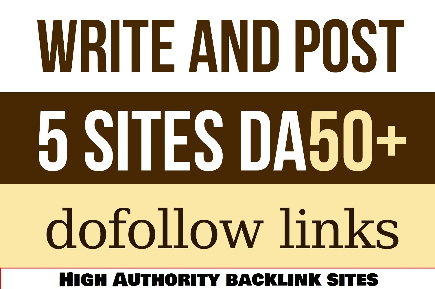 Free Offer - Write and Guest Post Articles on 5 High Dofollow Websites with DA 50+