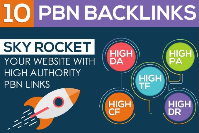 Do 10 Permanent Pbn Links,  High authority Da 20+ Contextual Backlinks
