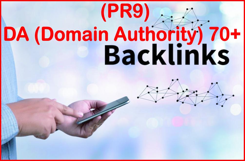 Submit 70+ PR9 - DA - Domain Authority- High PR Most Effective Backlinks