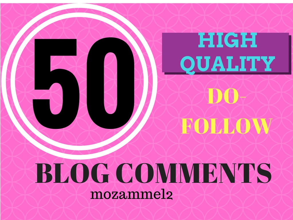 50 blog comment dofollow backlink in high DA sites