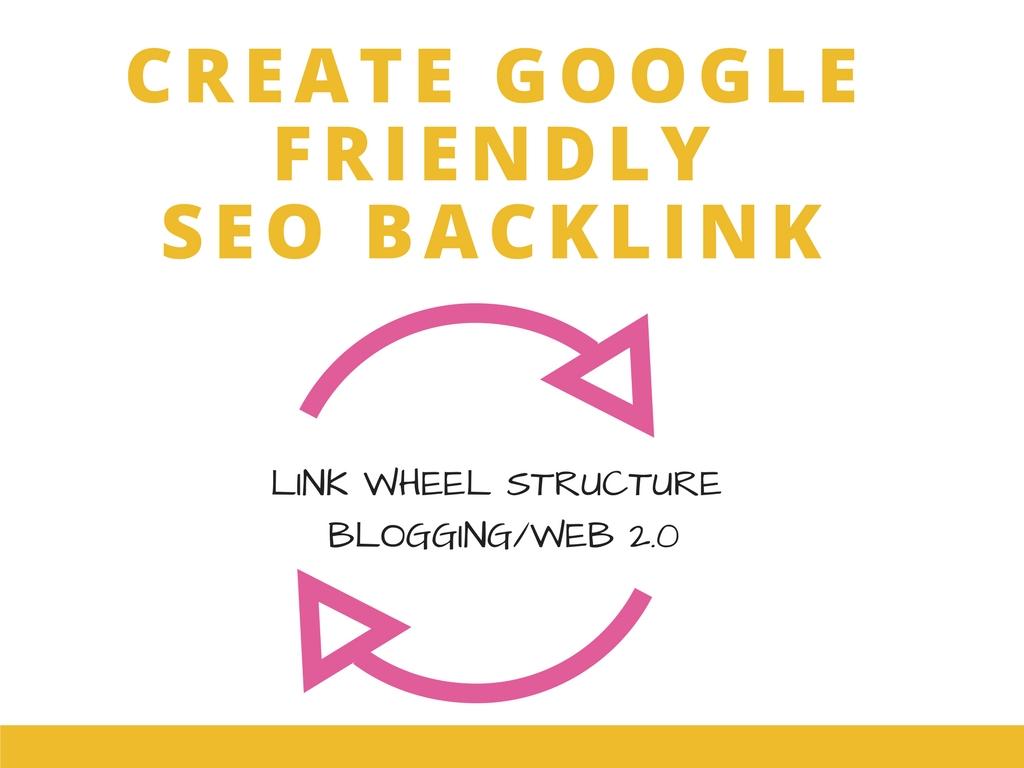 Google Friendly 15 Web2.0 Blogs by following Link Wheel Structure