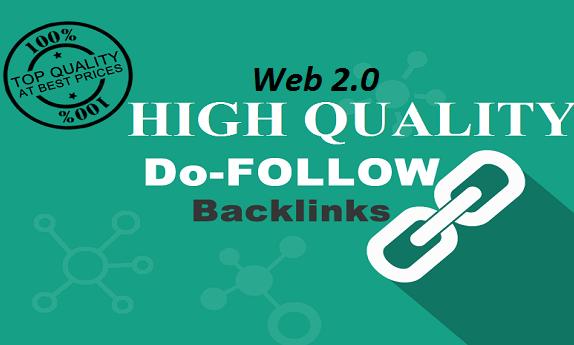 Give you 30+ High PR Web 2.0 Backlinks for 5