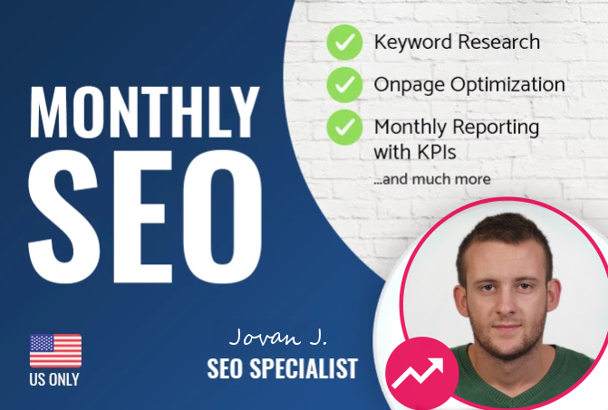 Monthly Technical Site SEO Optimization and Link Buil...