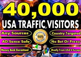 SEND YOU 40000++ USA ORGANIC WEBSITE TRAFFIC TRACEABLE WITH GOOGLE URL