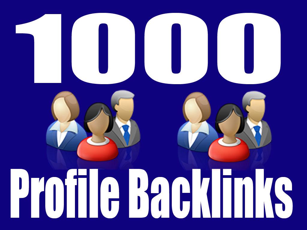 Get 1000+ Strong Profile Backlinks for Your Website URLs