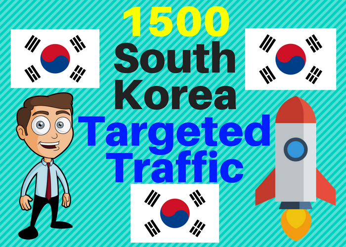 1500 South Korea TARGETED traffic to your web or blog site. Get Adsense safe and get Good Alexa rank