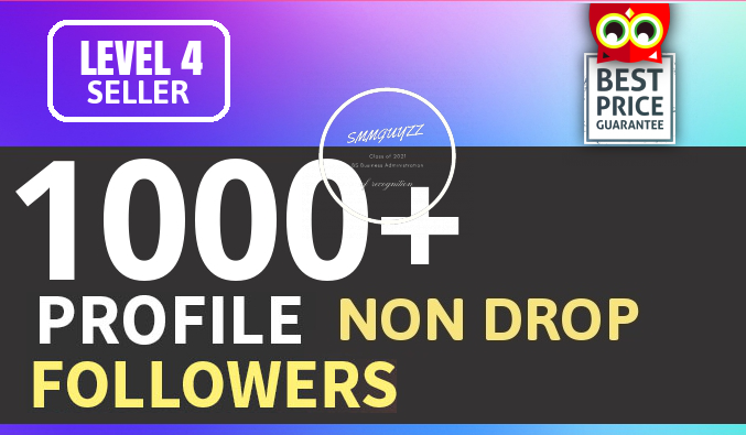 Add 1000 Fast HQ Account Followers Non Drop Guarantee...