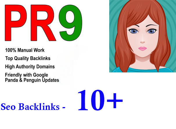Manually do 10+ PR9 seo backlinks on Your website instant start only